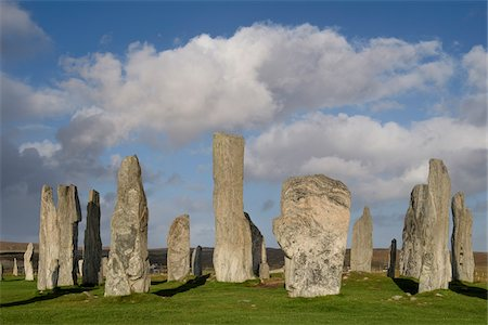 Callanish Stone Circle, a famous neolithic monument located on the Isle of Lewis in the chain of islands known as the Outer Hebrides, Scotland Stock Photo - Rights-Managed, Code: 700-07783743