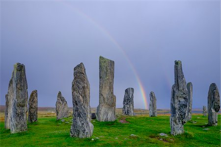 Callanish Stone Circle, a famous neolithic monument located on the Isle of Lewis in the chain of islands known as the Outer Hebrides, Scotland Fotografie stock - Rights-Managed, Codice: 700-07783751