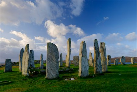 Callanish Stone Circle, a famous neolithic monument located on the Isle of Lewis in the chain of islands known as the Outer Hebrides, Scotland Stock Photo - Rights-Managed, Code: 700-07783752