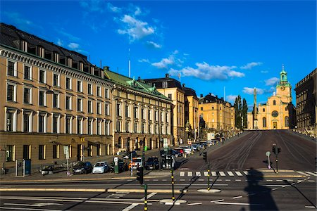 Street scene with view of the Stockholm Cathedral (Church of St Nicholas, Storkyrkan (The Great Church) in Gamla Stan (Old Town) Stockholm, Sweden Stock Photo - Rights-Managed, Code: 700-07783774