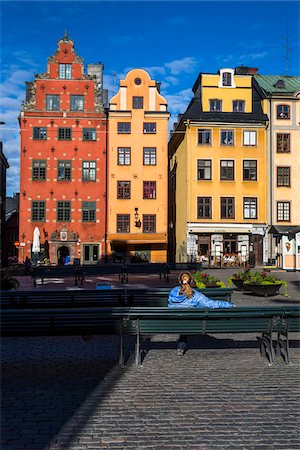 flat (apartment) - Colorful buildings at Stortorget, Gamla Stan (Old Town), Stockholm, Sweden Stock Photo - Rights-Managed, Code: 700-07783805