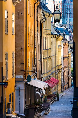 quaint - Street scene, Gamla Stan (Old Town), Stockholm, Sweden Stock Photo - Rights-Managed, Code: 700-07783816