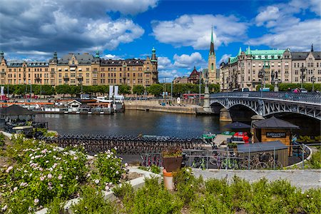 Harbour and waterfront, Ostermalm, Stockholm, Sweden Stock Photo - Rights-Managed, Code: 700-07783831