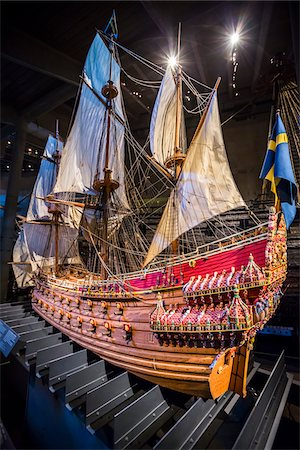 stockholm - Close-up of ship, Vasa Museum, Stockholm, Sweden Stock Photo - Rights-Managed, Code: 700-07783841