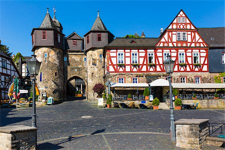 Street scene with old, half-timbered houses in the old town, Braunfels, Lahn-Dill County, Hesse, Germany Stock Photo - Rights-Managed, Code: 700-07783876