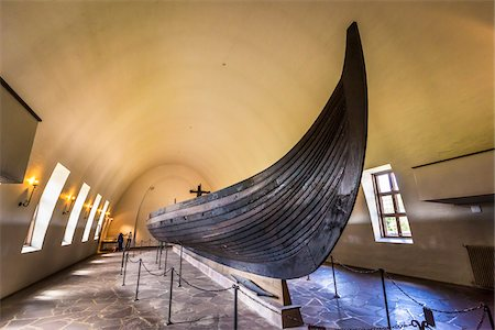 Gokstad Ship at Viking Ship Museum, Bygdoy, Oslo, Norway Stock Photo - Rights-Managed, Code: 700-07783932