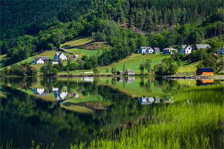 european hillside town - Granvin, Hordaland, Norway Stock Photo - Rights-Managed, Code: 700-07797764