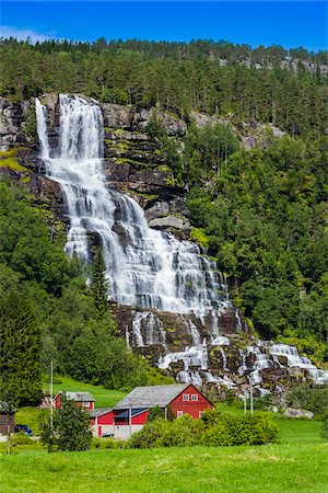 european hillside town - Tvindefossen Waterfall, near Voss, Norway Stock Photo - Rights-Managed, Code: 700-07797767