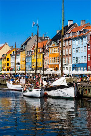 Nyhavn Harbour, Copenhagen, Denmark Stock Photo - Rights-Managed, Code: 700-07802504