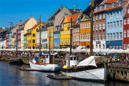 Nyhavn Harbour, Copenhagen, Denmark Stock Photo - Rights-Managed, Code: 700-07802503