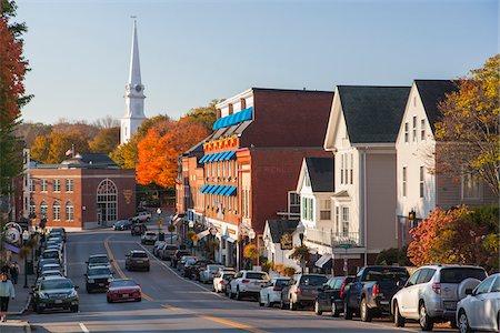 Main Street in autumn, Camden, Maine, USA Stock Photo - Rights-Managed, Code: 700-07802619