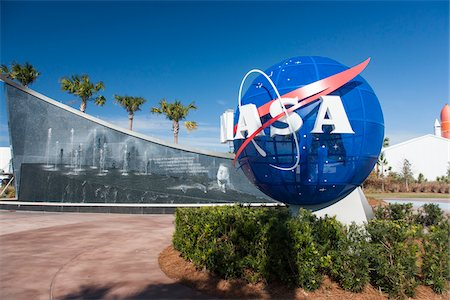 Entrance to Kennedy Space Center, Cape Canaveral, Florida, USA Stock Photo - Rights-Managed, Code: 700-07802626
