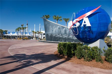 Entrance to Kennedy Space Center, Cape Canaveral, Florida, USA Stock Photo - Rights-Managed, Code: 700-07802628