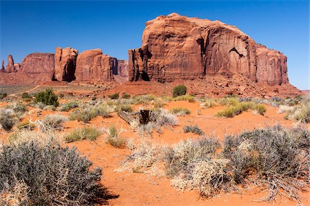 Rock foramtions and landscape, Monument Valley, Arizona, USA Stock Photo - Rights-Managed, Code: 700-07802621