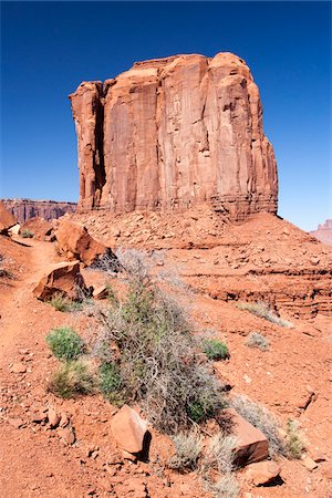 Butte rock formation, Monument Valley, Arizona, USA Stock Photo - Rights-Managed, Code: 700-07802623