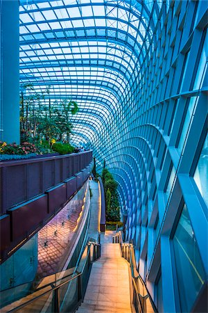 Architectural interior, Flower Dome, Gardens by the Bay, Singapore Stock Photo - Rights-Managed, Code: 700-07802664