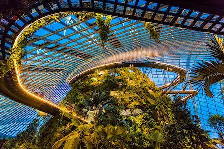 Cloud Forest conservatory, Gardens by the Bay, Singapore Stock Photo - Rights-Managed, Code: 700-07802666