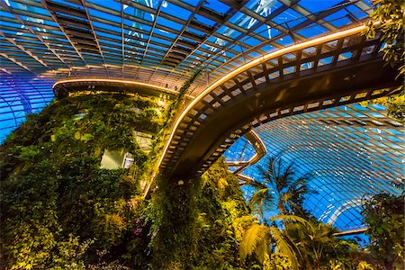 Cloud Forest conservatory, Gardens by the Bay, Singapore Stock Photo - Rights-Managed, Code: 700-07802667