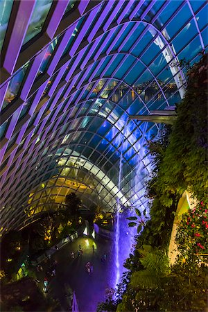 Cloud Forest conservatory, Gardens by the Bay, Singapore Stock Photo - Rights-Managed, Code: 700-07802668