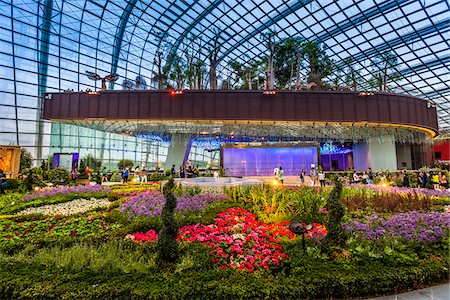 Flower Dome, Gardens by the Bay, Singapore Stock Photo - Rights-Managed, Code: 700-07802662