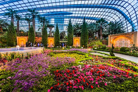 Flower Dome, Gardens by the Bay, Singapore Stock Photo - Rights-Managed, Code: 700-07802663