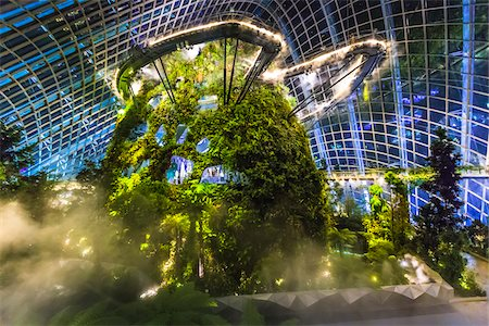 Cloud Forest conservatory, Gardens by the Bay, Singapore Stock Photo - Rights-Managed, Code: 700-07802671