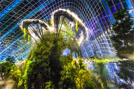 Cloud Forest conservatory, Gardens by the Bay, Singapore Stock Photo - Rights-Managed, Code: 700-07802672