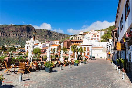 Scenic view of the mountain village of Tejeda, Gran Canaria, Las Palmas, Canary Islands Stock Photo - Rights-Managed, Code: 700-07849644