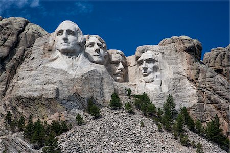 Mount Rushmore National Memorial, South Dakota, USA Stock Photo - Rights-Managed, Code: 700-07840776