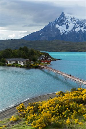 Hosteria Pehoe at Lago Pehoe, Torres del Paine National Park, Patagonia, Chile Stock Photo - Rights-Managed, Code: 700-07911161
