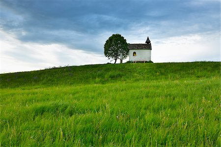 season - Little Chapel with Tree in Spring, Aidlinger Hohe, Upper Bavaria, Bavaria, Germany Stock Photo - Rights-Managed, Code: 700-07945017