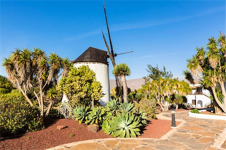 Traditional windmill at Molino de Antigua, Antigua, Fuerteventura, Las Palmas, Canary Islands Stock Photo - Rights-Managed, Code: 700-07945297