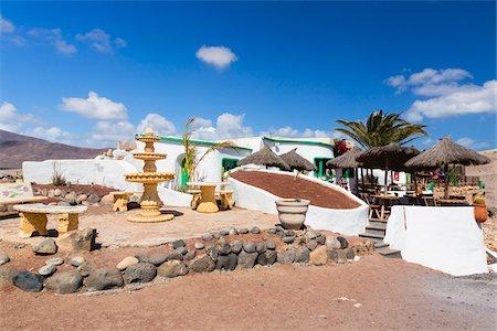 Restaurant nearby Playa Papagayo, Lanzarote, Las Palmas, Canary Islands Stock Photo - Rights-Managed, Code: 700-07945315