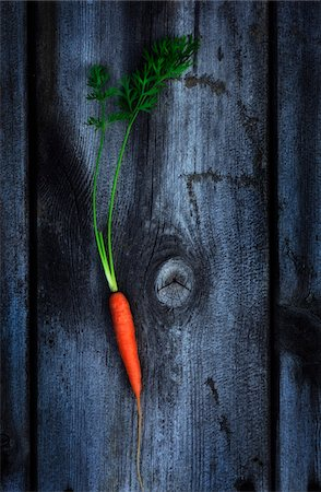 Organic Carrot on Wooden Background Stock Photo - Rights-Managed, Code: 700-07965824