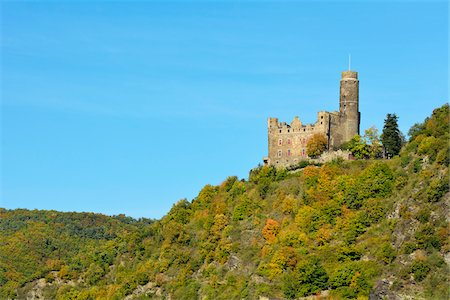 Castle Maus, Sankt Goarshausen, Loreley, Rhine Valley, Rhein-Lahn-Kreis, Rhineland-Palatinate, Germany Stock Photo - Rights-Managed, Code: 700-07968192
