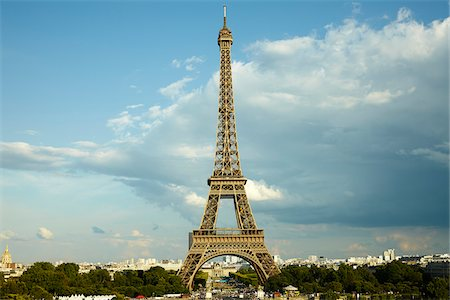 Eiffel Tower and Champ de Mars from Trocadero, Paris, France Photographie de stock - Rights-Managed, Code: 700-08059875