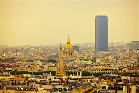 View from top of Arc de Triomphe, Paris, France Stock Photo - Rights-Managed, Code: 700-08059882