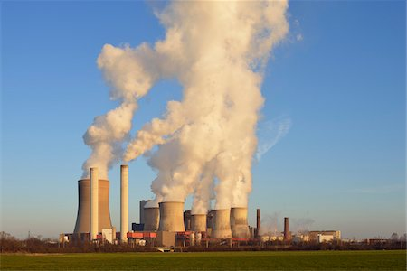Coal Fired Power Station Niederaussem, Niederaussem, Bergheim District, North Rhine-Westphalia, Germany Fotografie stock - Rights-Managed, Codice: 700-08102786