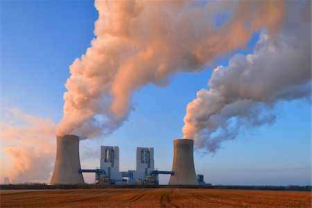 Coal Fired Power Station Neurath II at Sunrise, Neurath, Bergheim District, North Rhine-Westphalia, Germany Fotografie stock - Rights-Managed, Codice: 700-08102788