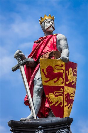 Statue of Llewellyn the Great, Conwy, Conwy County, Wales, United Kingdom Stock Photo - Rights-Managed, Code: 700-08122065