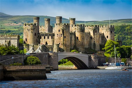 Conwy Castle, Conwy, Conwy County, Wales, United Kingdom Stock Photo - Rights-Managed, Code: 700-08122060