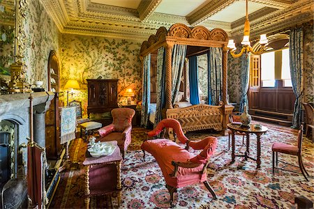 State Bedroom, Penrhyn Castle, Llandegai, Bangor, Gwynedd, Wales, United Kingdom Stock Photo - Rights-Managed, Code: 700-08122084
