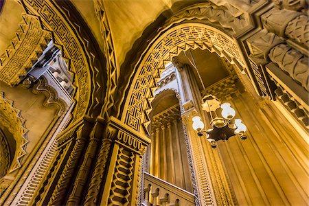 Grand staircase, Penrhyn Castle, Llandegai, Bangor, Gwynedd, Wales, United Kingdom Stock Photo - Rights-Managed, Code: 700-08122088