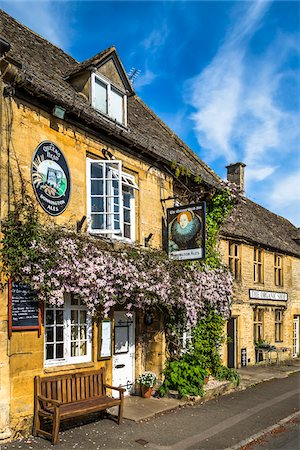 european bar building - Stow-on the-Wold, Gloucestershire, The Cotswolds, England, United Kingdom Stock Photo - Rights-Managed, Code: 700-08122105