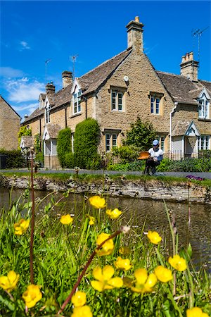 painter - Lower Slaughter, Gloucestershire, The Cotswolds, England, United Kingdom Stock Photo - Rights-Managed, Code: 700-08122120