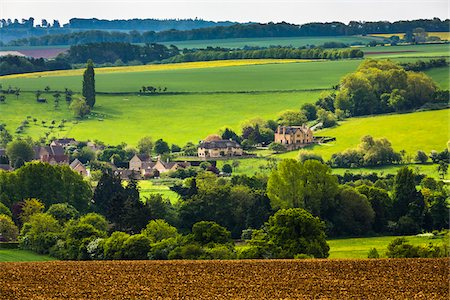 Overview of farmland and countryside, Chipping Campden, Gloucestershire, The Cotswolds, England, United Kingdom Stock Photo - Rights-Managed, Code: 700-08122157