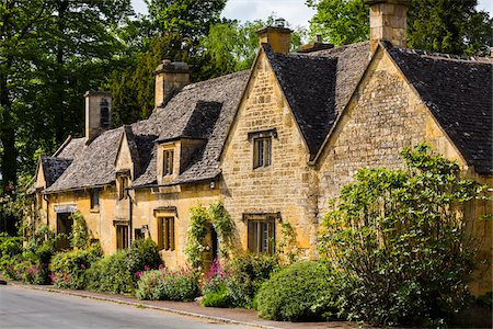 Stone cottages, Stanton, Gloucestershire, The Cotswolds, England, United Kingdom Stock Photo - Rights-Managed, Code: 700-08122150