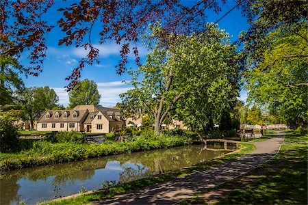 quaint - River Eye and countryside, Lower Slaughter, Gloucestershire, The Cotswolds, England, United Kingdom Stock Photo - Rights-Managed, Code: 700-08122176