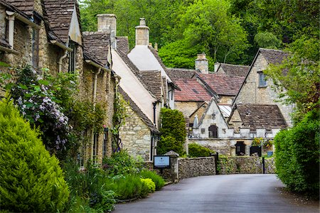Castle Combe, Wiltshire, The Cotswolds, England, United Kingdom Fotografie stock - Rights-Managed, Codice: 700-08122215