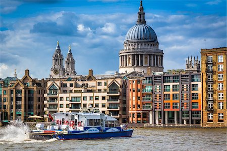 St Paul's Cathedral and the Thames River, London, England, United Kingdom Stock Photo - Rights-Managed, Code: 700-08145853